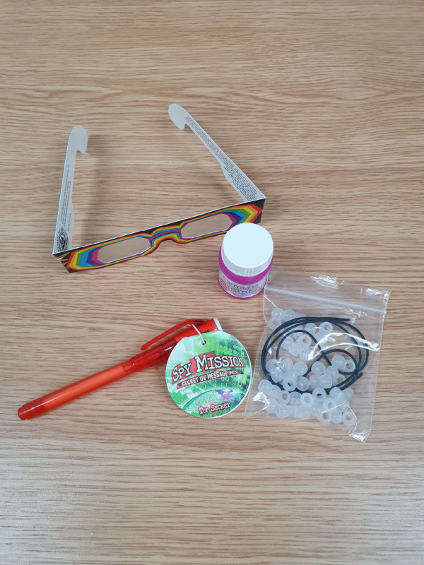 Rainbow Light Science kit contents